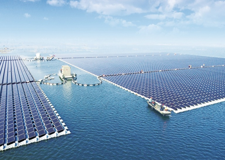 40MW Floating PV Power Plant in China built by Sungrow