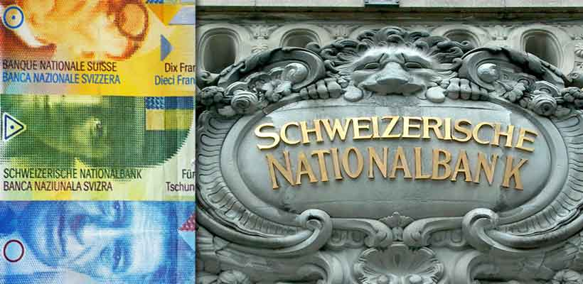 Swiss banknotes and central bank of Switzerland (SNB)