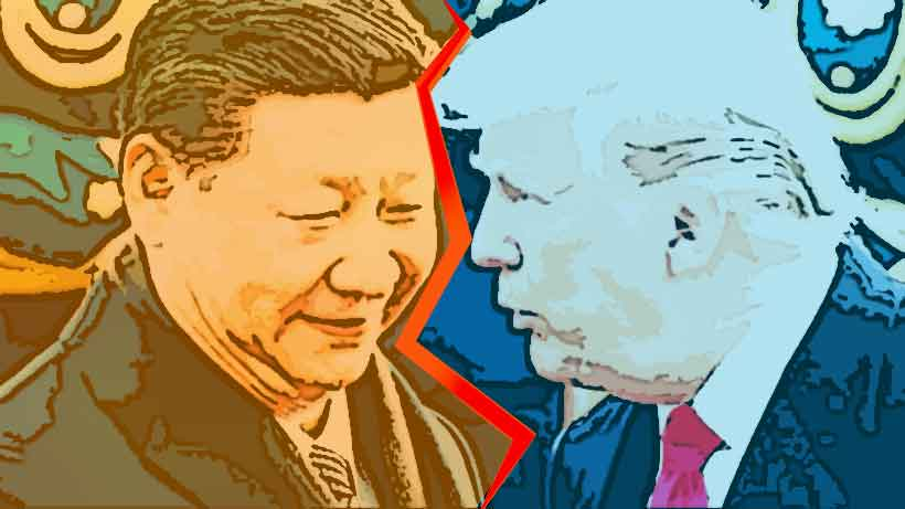 Chinese President Xi Jinping and US President Donald Trump Photo: Andy Wong/AP