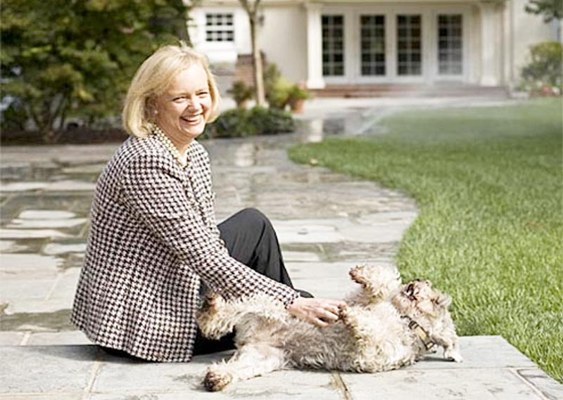 Meg Whitman with her dog