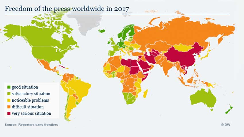 World Press Freedom Index 2017