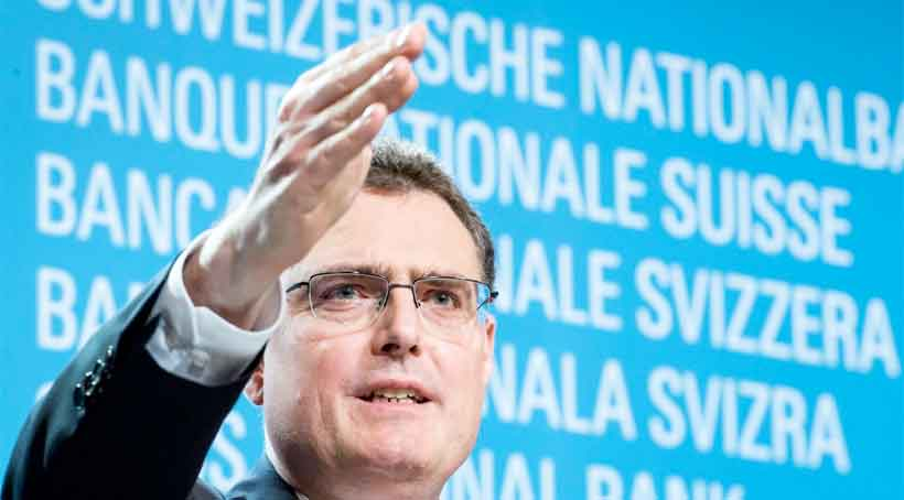 Swiss National Bank chairman, Thomas Jordan