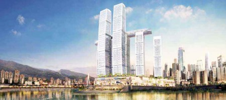 Raffles City Chongquing in China, jointly invested by CapitaLand and Ascendas-Singbridge Photo: CapitaLand