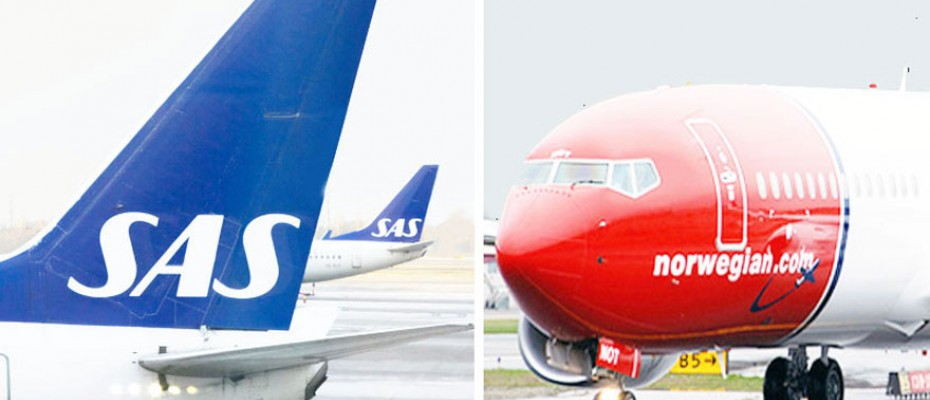Norway's two biggest airlines, SAS and Norwegian
