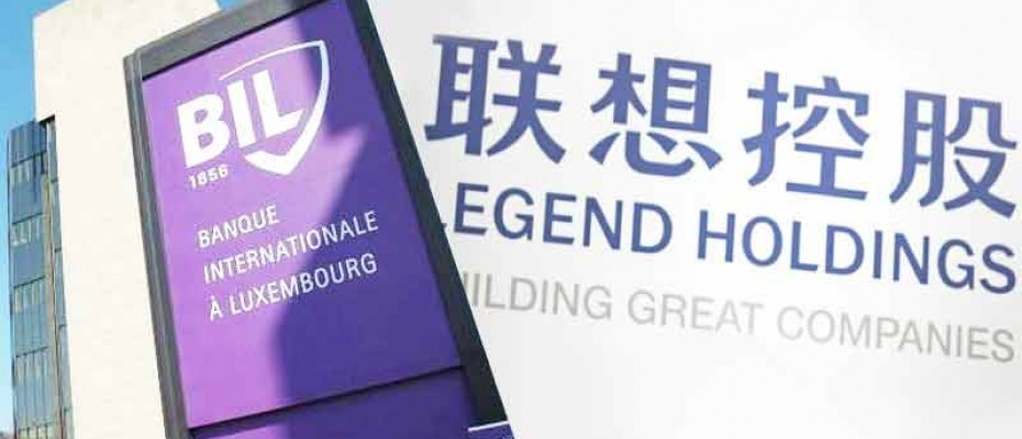 Legend Holdings logo and Banque Internationale à Luxembourg (BIL)