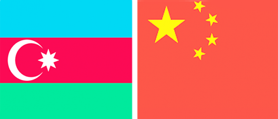 Azerbaijan and China flags