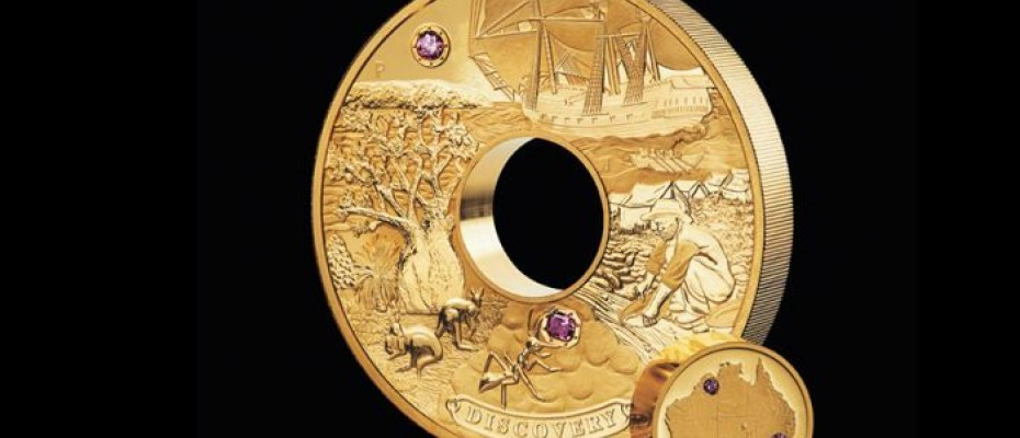 Discovery, Australia's most valuable collector coin Photo: The Perth Mint