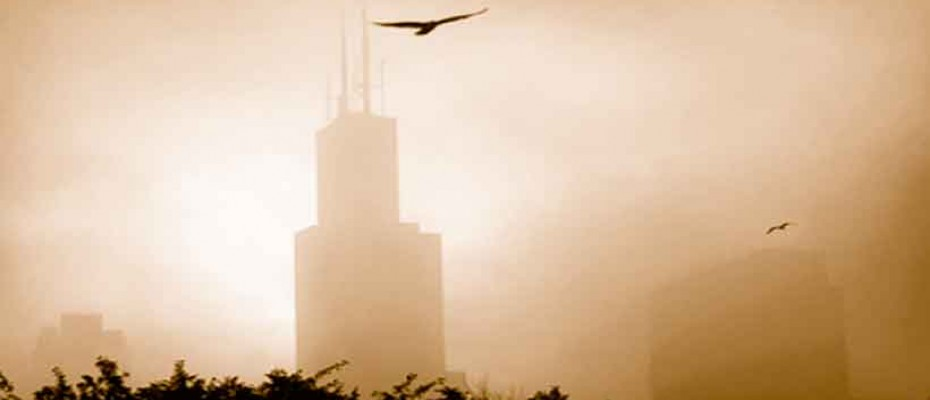 Sears Tower, Chicago in fog