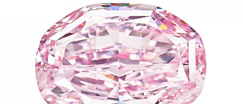 The spirit of the rose Russian pink diamond by Alrosa