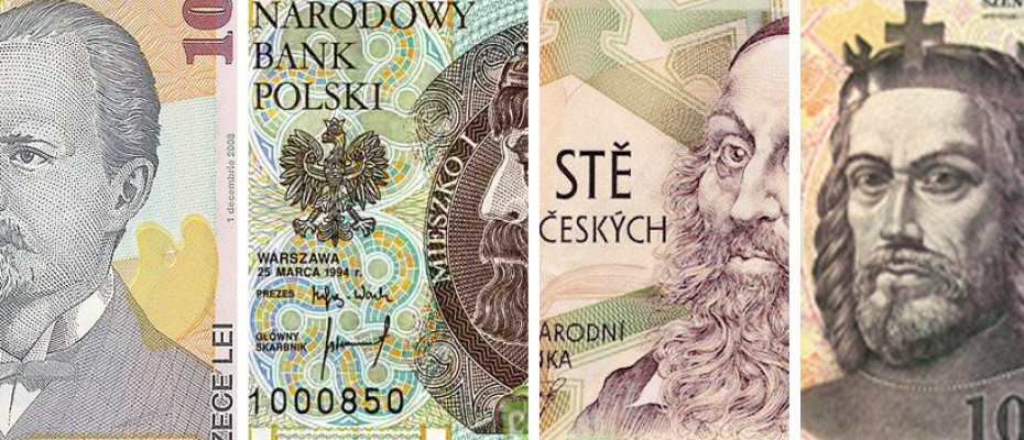 East Europe currencies