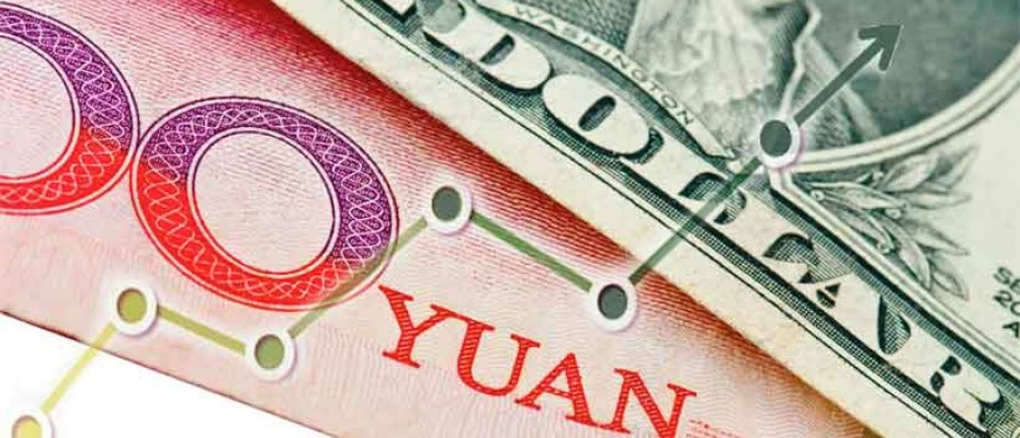 China's yuan rises against the US dollar